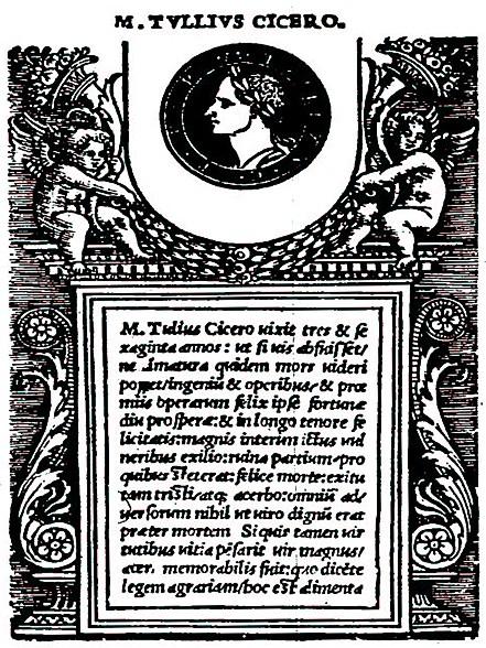 Cicerone- Cato Maior de Senectute
