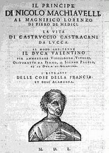 Machiavelli, Principe