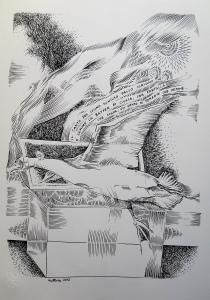 2012, Il canto del cigno, china, 33x48
