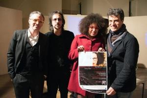 Foto  di Mirko Tamburello. Da sn, nella foto: Fabrizio Ferracane, Rino Marino, Sade Mangiaracina e Luca Aquino